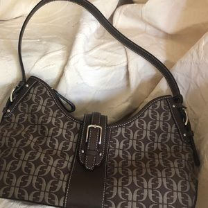 Fossil Canvas and Leather Handbag